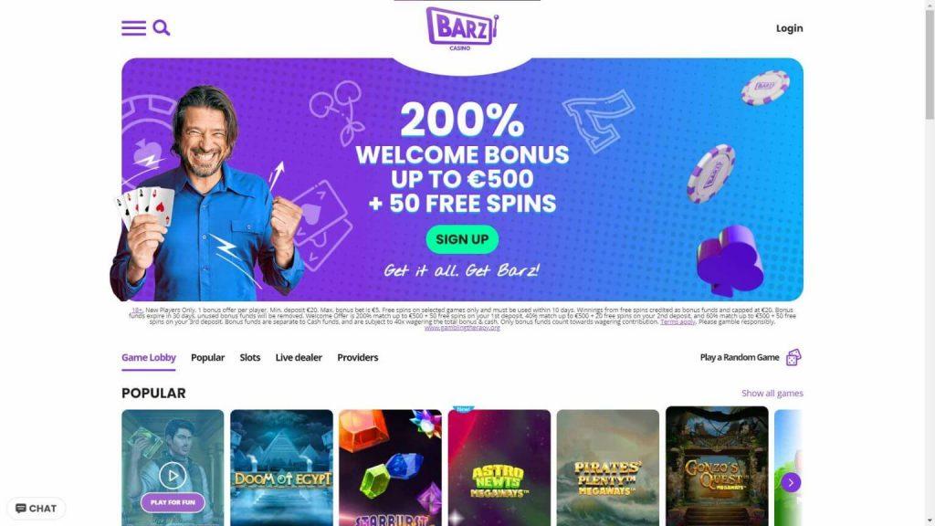 Barz Casino Arvostelu – kaikki parhaat kasinopelit yhdestä paikasta