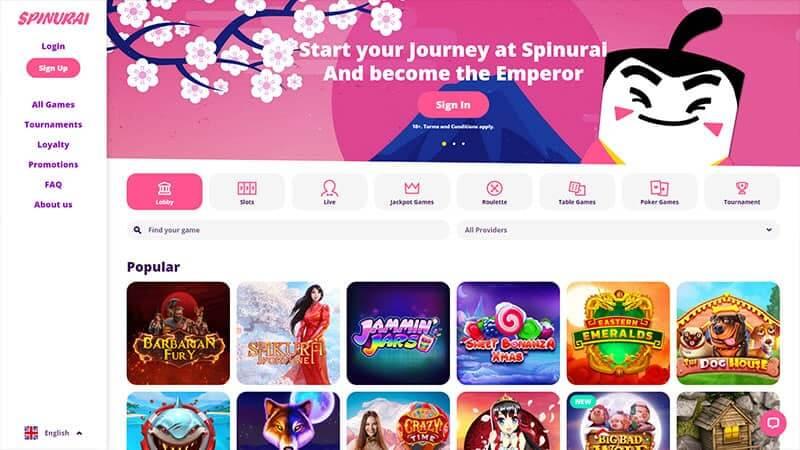 Spinurai Casino – Upea nettikasino täynnä mahdollisuuksia